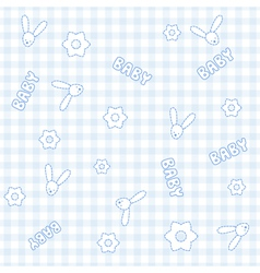 Baby boy bunny pattern vector