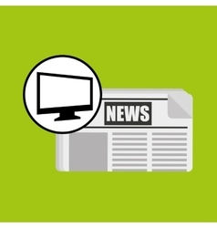 Computer news journal graphic vector