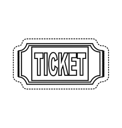 Ticket entrance isolated icon vector