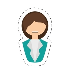 people fashionista woman icon image vector image