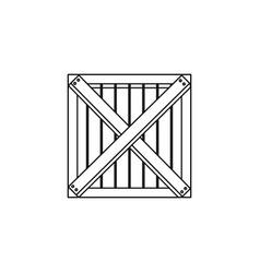 wooden box cargo shipping merchandise vector image