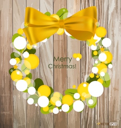 Merry Christmas Greeting Card on wood background vector image