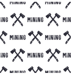 Hand drawn mining seamless background can be used vector