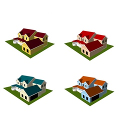 Isometric house style 8 vector