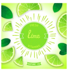 Fresh lime vitamins vector