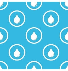 Water drop sign blue pattern vector