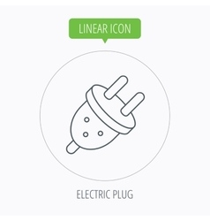 Electric plug icon european socket sign vector