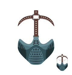 Horrible mask bdsm with leather straps protective vector