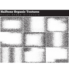 Set of halftone overlay textures vector