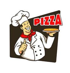 Chef Cooking Pizza vector image