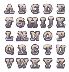 Stone game alphabet for user interfaces vector