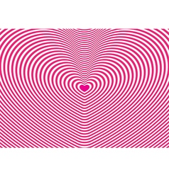 Pink and white heart tunnel wallpaper vector image