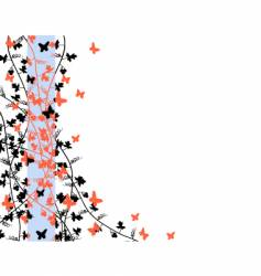 butterfly edge vector image