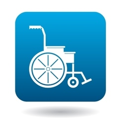 Wheelchair icon in simple style vector