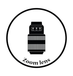 Icon of photo camera zoom lens vector