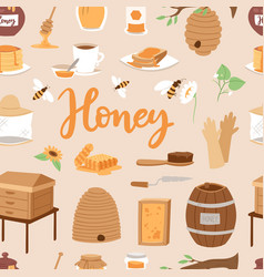 apiary honey farm beekeeping vector image