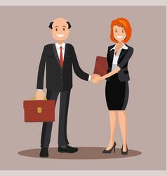 background business cooperation handshake vector image vector image