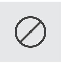 Ban icon vector image