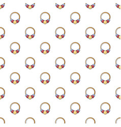 Bracelet with beads pattern seamless vector