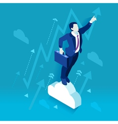 Business Graph 02 People Isometric vector image vector image