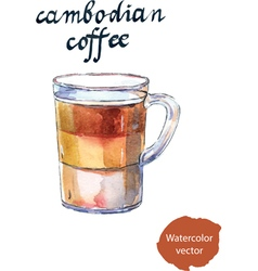 Cambodian coffee vector