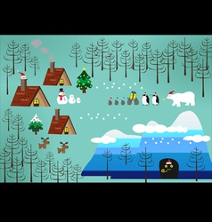 Christmas theme landscape vector