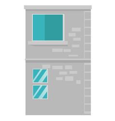 city building cartoon vector image vector image