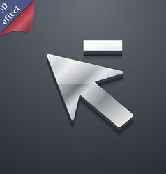 Cursor arrow minus icon symbol 3D style Trendy vector image