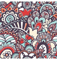 Doodle seamless print Floral background vector image vector image