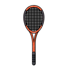 drawing racket tennis equipment vector image