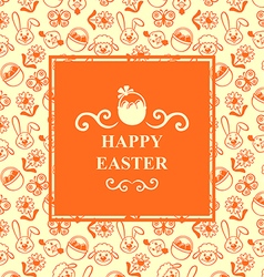 easter muzzle square orange vector image vector image