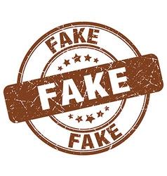 Fake brown grunge round vintage rubber stamp vector