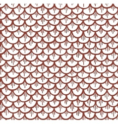 Fish Scales Seamless Pattern Cartoon Brown vector image vector image