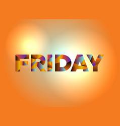 Friday theme word art vector