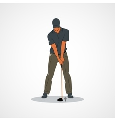 Golf Sport player vector image