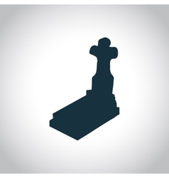 Grave simple icon vector image