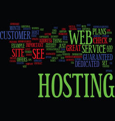 Great host text background word cloud concept vector