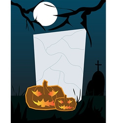 Halloween frame background vector