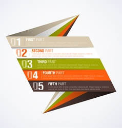 Infographics element vector image