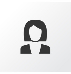 Job woman icon symbol premium quality isolated vector