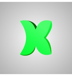 Letter x comic style font eps10 vector