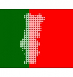 map and flag of Portugal vector image vector image