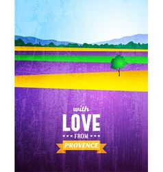 Poster with a landscape of provence vector