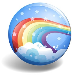 Rainbow badge vector