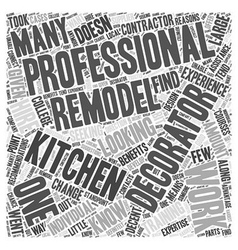 Remodeling your kitchen should you hire a vector
