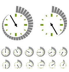 round timer symbols vector image