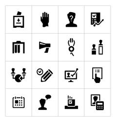 Set icons of elections vector