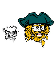 Shouting pirate captain head vector image