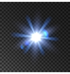 Star light flash glowing beams vector image