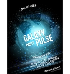 Summer Beach Party Flyer Galaxy is reflected in vector image vector image